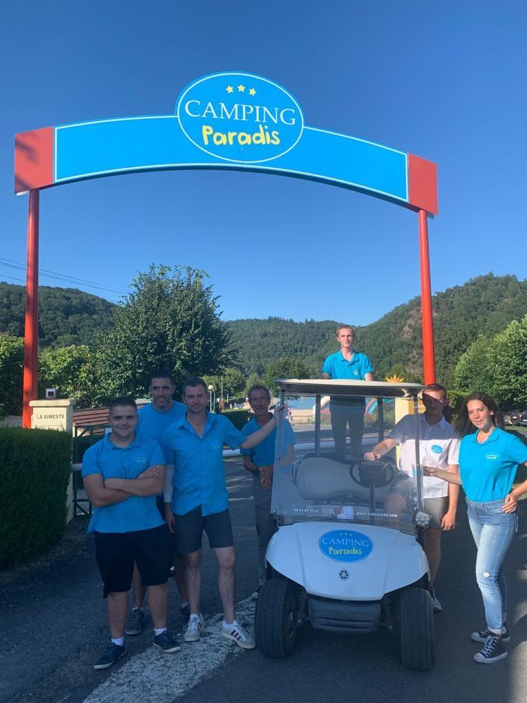 Léquipe Camping Paradis la Gineste 2021